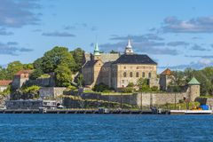 Akershus Castle and Fortress. In Oslo Norway royalty free stock image
