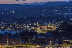 Akershus Castle in Oslo royalty free stock photography