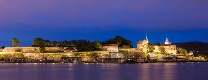 Akershus fästningpanorama fotografering för bildbyråer