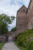 Akershus Festning, Oslo. Akershus Fortress or Akershus Castle is a medieval castle that was built to protect Oslo, the capital of Norway. It has also been used stock image