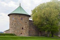 Akershus-Festung in der Stadt von Oslo lizenzfreie stockbilder