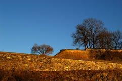 Akershus Festungswände stockbild