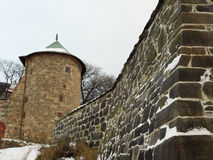 Akershus Fortress. During winter in Oslo Royalty Free Stock Image
