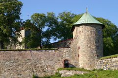 Akershus Fortress. A view of the outer walls of Akershus fortress in Oslo, Norway Royalty Free Stock Photography