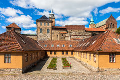 Akershus Fortress. And castle in Oslo, Norway stock photo