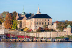 Akershus Fortress close up. Akershus Fortress in Oslo, Norway stock image