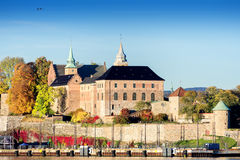 Akershus Fortress at golden hours close up Royalty Free Stock Photography