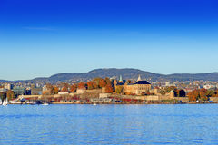 Akershus Fortress at golden hours Royalty Free Stock Image