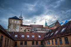 Akershus Fortress. A medieval castle in Oslo, the capital of Norway Stock Image