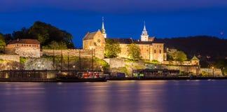 Akershus Fortress at Night Royalty Free Stock Photo