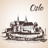 Akershus Fortress, Norway - Sketch, Stock Image