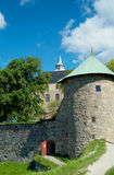 Akershus fortress in Oslo. The medieval fortress Akershus in Oslo, Norway Royalty Free Stock Images