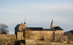 Akershus fortress in Oslo. View of Akershus fortress in Oslo. West side of the fortress stock photography