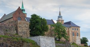 Akershus Fortress in Oslo. Norway stock photography