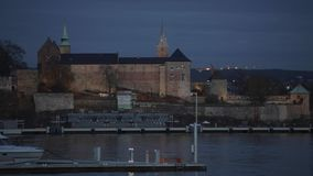 Akershus Fortress Oslo stock video footage