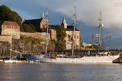 Akershus Fortress. In Oslo, Norway stock images