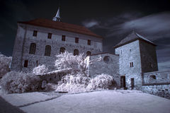 Akershus Fortress in Oslo. Norway stock photo
