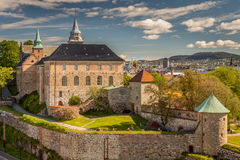 Akershus Fortress. Oslo Norway view from the Seasise Royalty Free Stock Images