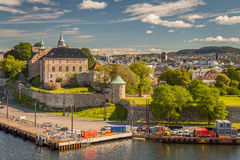 Akershus Fortress. Oslo Norway view from the Seasise Stock Photo