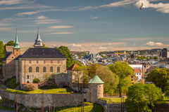 Akershus Fortress. Oslo Norway view from the Seasise Royalty Free Stock Photos