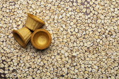 Сakes of oats with honey Stock Image