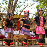 Akha dances Royalty Free Stock Photo