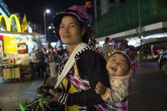 Akha nella città di Chiangmai Immagine Stock Libera da Diritti