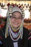 Akha Tribeswoman, Thailand Stock Photos