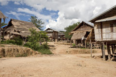 Akha village Muang Sing, Laos Stock Photo