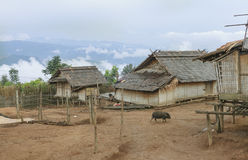 Akha village Royalty Free Stock Image