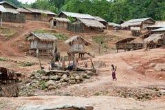 Akha village in Phongsali, Laos Stock Photography