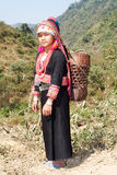 Akha woman in Laos Stock Photo