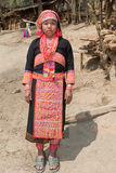 Akha woman from Laos Stock Images