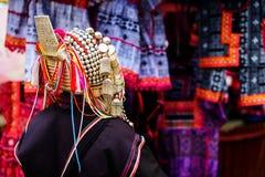 Akha woman with traiditional dress. Akha tribe woman with traiditional dress and decoration Royalty Free Stock Images