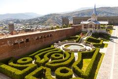 Akhaltsikhe-Festung, auch die Rabat-Festung, die Panoramas und der fra stockfotografie