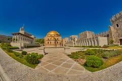 AKHALTSIKHE, GEÓRGIA - 8 DE AGOSTO DE 2017: Comp(s) famosos do castelo de Rabati Foto de Stock