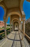 AKHALTSIKHE, GEÓRGIA - 8 DE AGOSTO DE 2017: Comp(s) famosos do castelo de Rabati Imagem de Stock