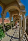 AKHALTSIKHE, GEÓRGIA - 8 DE AGOSTO DE 2017: Comp(s) famosos do castelo de Rabati Fotografia de Stock Royalty Free