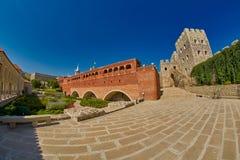 AKHALTSIKHE, GEÓRGIA - 8 DE AGOSTO DE 2017: Comp(s) famosos do castelo de Rabati Foto de Stock Royalty Free