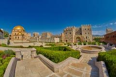 AKHALTSIKHE, GEÓRGIA - 8 DE AGOSTO DE 2017: Comp(s) famosos do castelo de Rabati Imagens de Stock Royalty Free