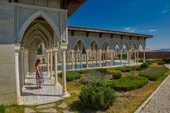 AKHALTSIKHE, GEORGIA - 8. AUGUST 2017: Berühmter Rabati-Schloss-Baut. Stockfotografie