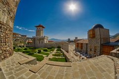 AKHALTSIKHE, GEORGIA - 08 AUGUST 2017: Famous Rabati Castle Comp. AKHALTSIKHE, GEORGIA - 08 AUGUST 2017: Majestic Rabati Castle Complex under summer sunshine Royalty Free Stock Images