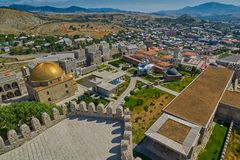 AKHALTSIKHE, GEORGIA - 08 AUGUST 2017: Famous Rabati Castle Comp. AKHALTSIKHE, GEORGIA - 08 AUGUST 2017: Majestic Rabati Castle Complex under summer sunshine Stock Photography