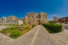 AKHALTSIKHE, GEORGIA - 08 AUGUST 2017: Famous Rabati Castle Comp. AKHALTSIKHE, GEORGIA - 08 AUGUST 2017: Majestic Rabati Castle Complex under summer sunshine Stock Photos