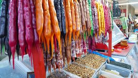 Typical sweets of Georgia at a market stall royalty free stock image