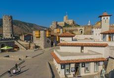 Akhaltsikhe, Georgia - el castillo de Rabati imagenes de archivo