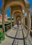 AKHALTSIKHE, LA GÉORGIE - 8 AOÛT 2017 : Élém. célèbres de château de Rabati Images libres de droits