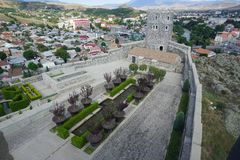 Akhaltsikhe Rabati Castle Garden View royalty free stock images