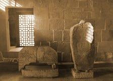 Akhaltsikhe-Stein Carvings stockbilder
