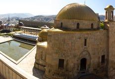 Akhaltsikhevesting, ook de Vesting van Rabat, panoramas en fra Stock Foto